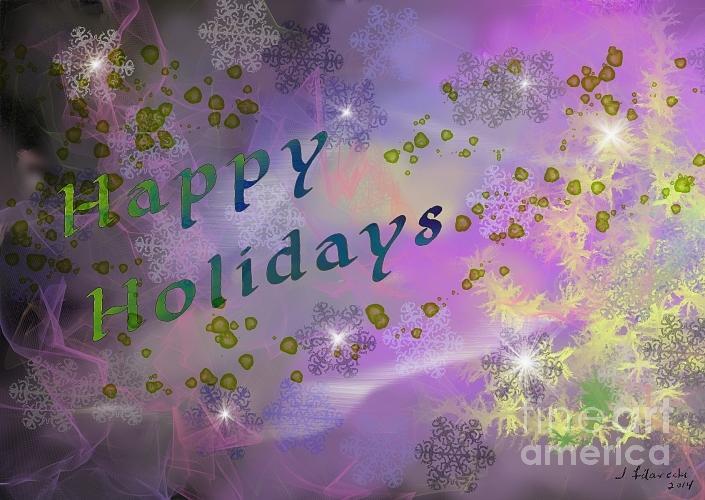 Holidays Digital Art - Happy Holidays Card by Judy Filarecki