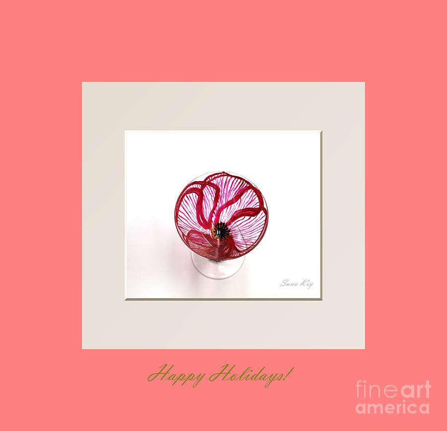 Poppy Glass Art - Happy Holidays. Poppy by Oksana Semenchenko