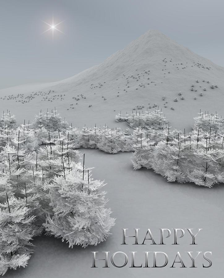 Holiday Greetings Digital Art - Happy Holidays by Richard Rizzo