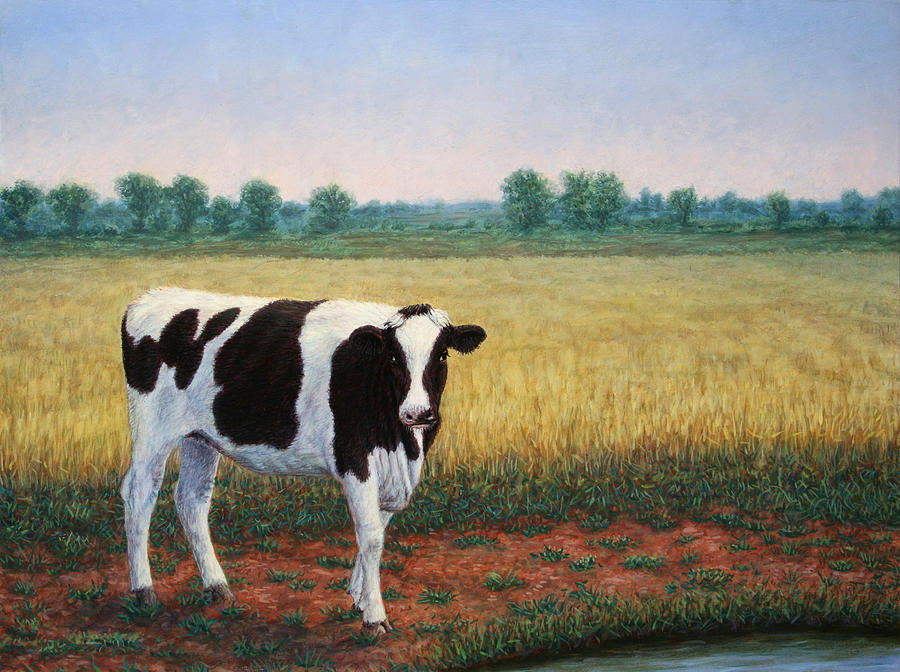Happy Painting - Happy Holstein by James W Johnson