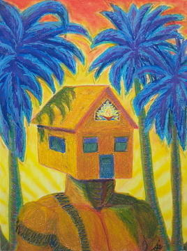 House Pastel - Happy Home by Dennis Goodbee