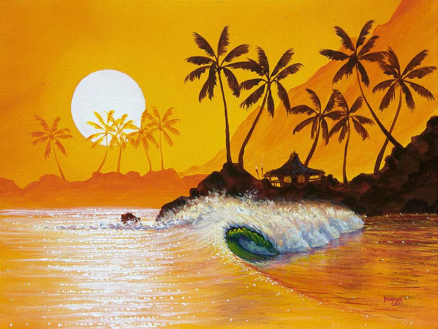 Patrick Parker Art Painting - Happy Hour by Patrick Parker