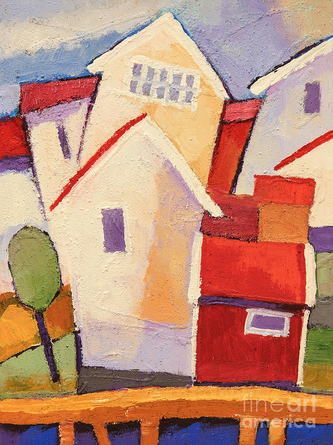 Happy House Painting - Happy Houses by Lutz Baar