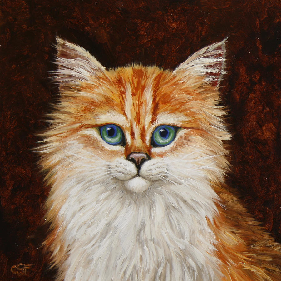 Cat Painting - Happy Kitty by Crista Forest