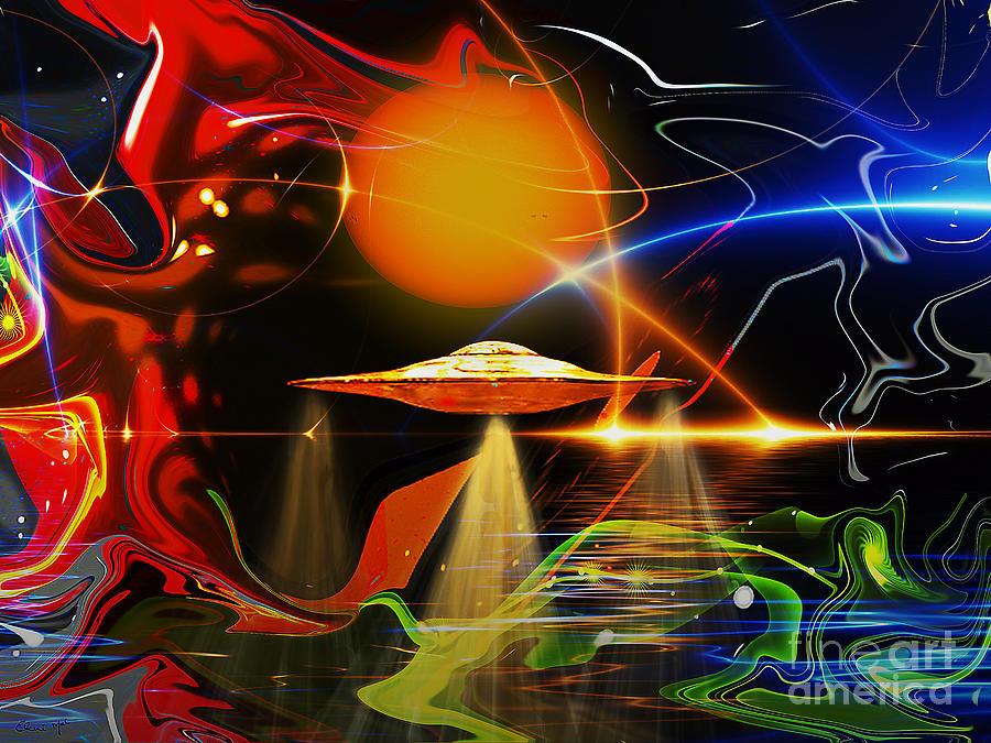 Illusion Digital Art - Happy Landing by Eleni Mac Synodinos