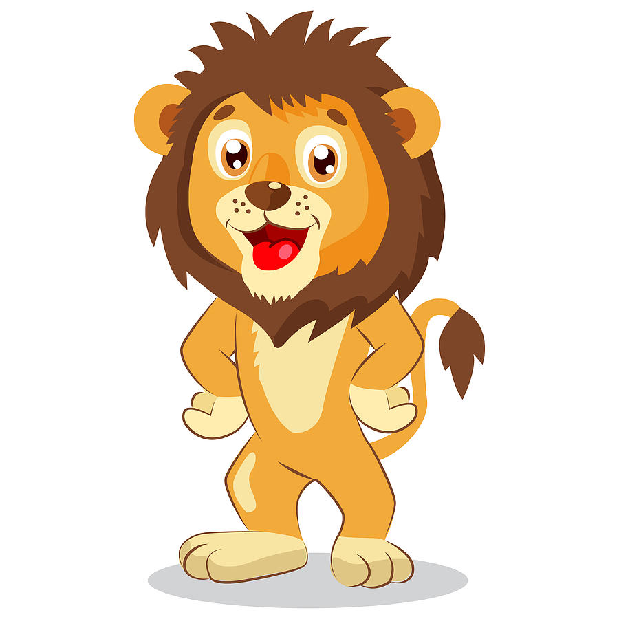 999c6bdb Happy Leo. Cartoon Lion Vector. Cute Character. Kids Funny Illustration.  Lion Funny Mascot. by Usagi-D