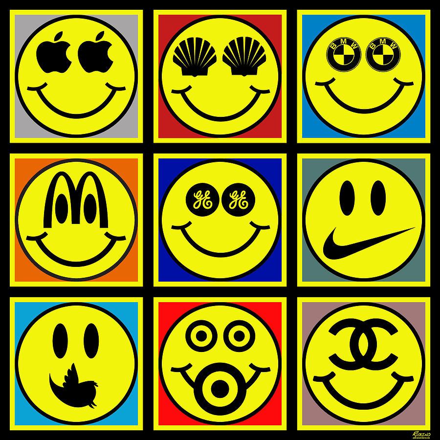 Happy Painting - Happy Logos by Tony Rubino