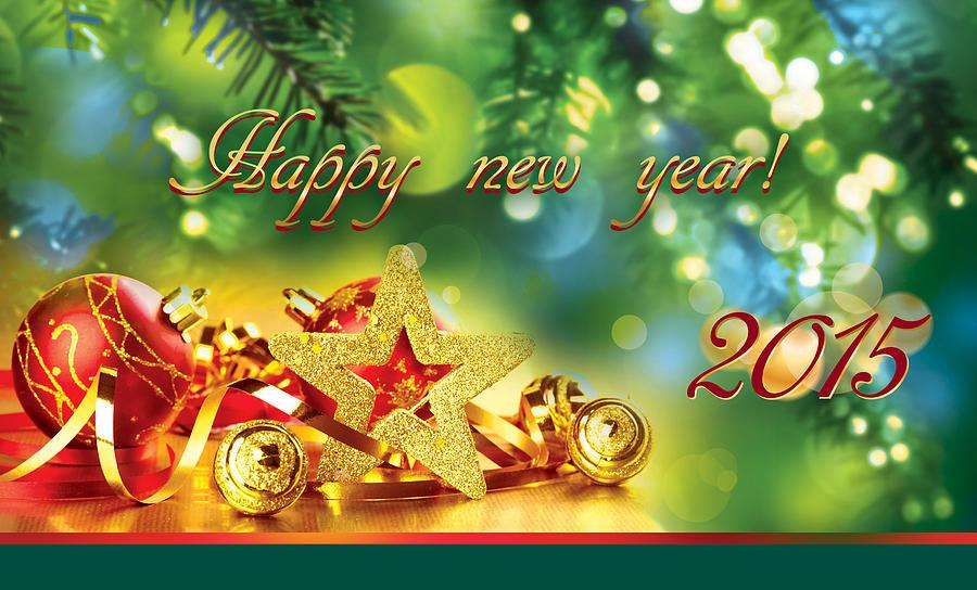 Happy new year card 2015 digital art by irina effa m4hsunfo
