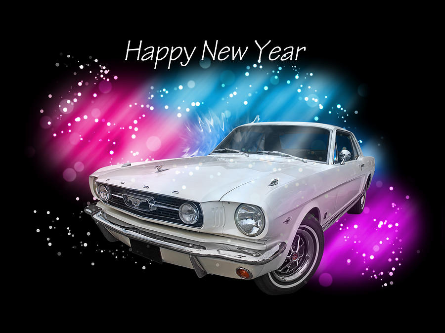 Happy New Year Mustang Photograph By Gill Billington