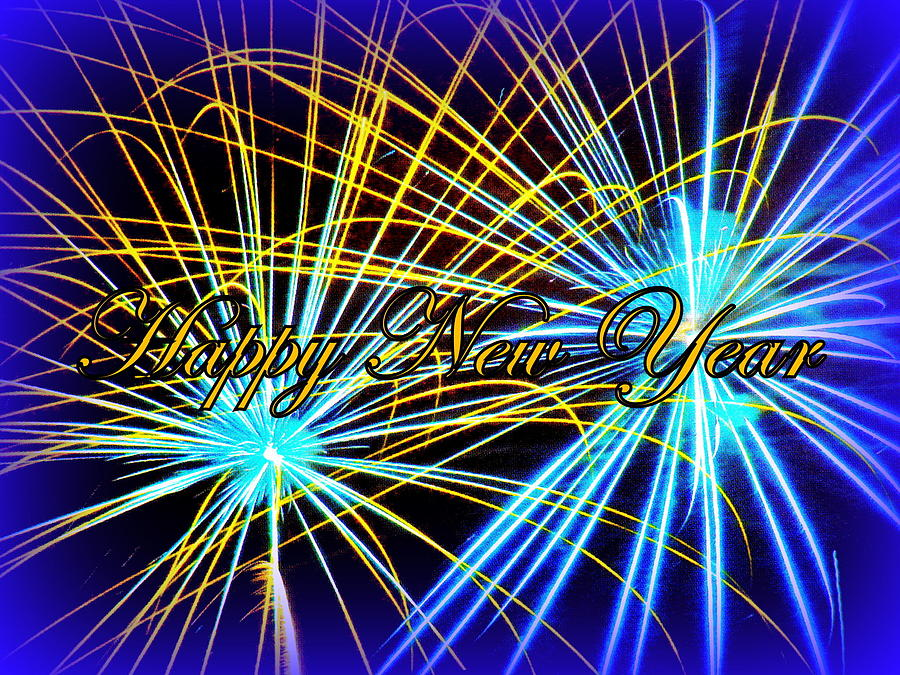 Fireworks Photograph - Happy New Year by The Creative Minds Art and Photography