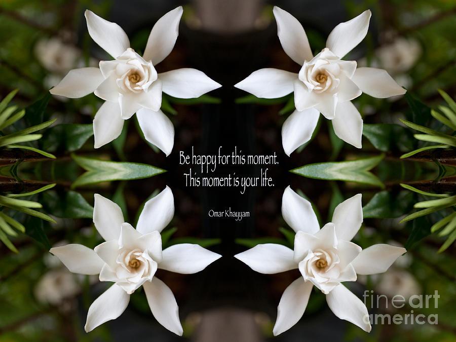 Omar Khayyam Photograph - Happy - Omar Khayyam Quote  by Susan Bloom