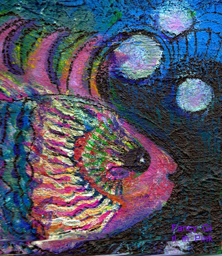 Pink Painting - Happy Pink Fish by Anne-Elizabeth Whiteway