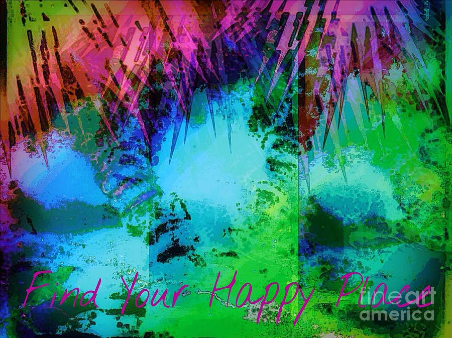 Palm Trees Mixed Media - Happy Place 1 by Michelle Stradford