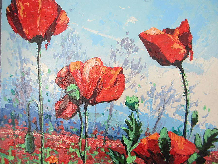 Poppies Painting - Happy Poppies  by Andrei Attila Mezei