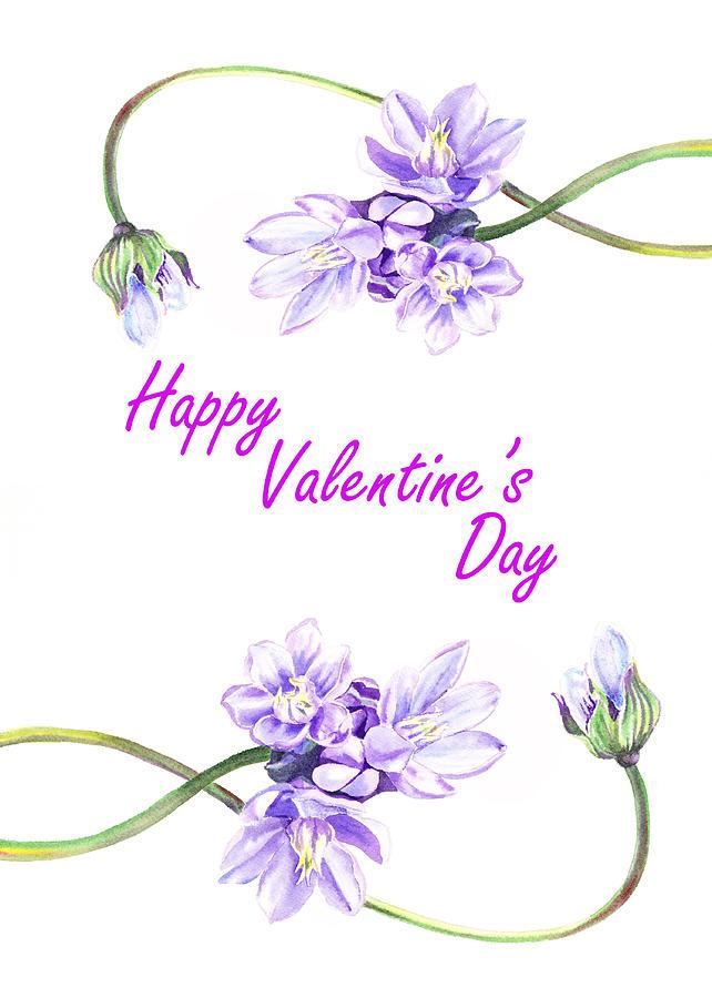 Valentine Painting - Happy Purple Valentine by Irina Sztukowski