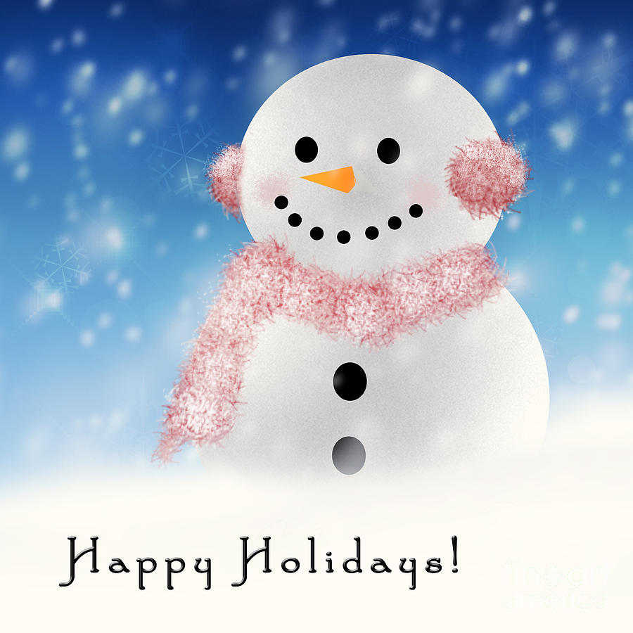 Happy Snowman by Pam  Holdsworth