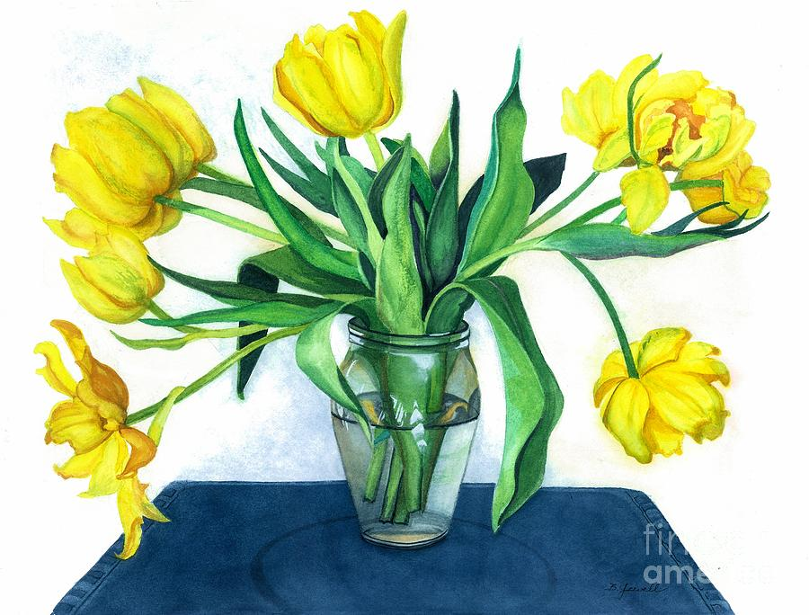 Flowers Painting - Happy Spring by Barbara Jewell
