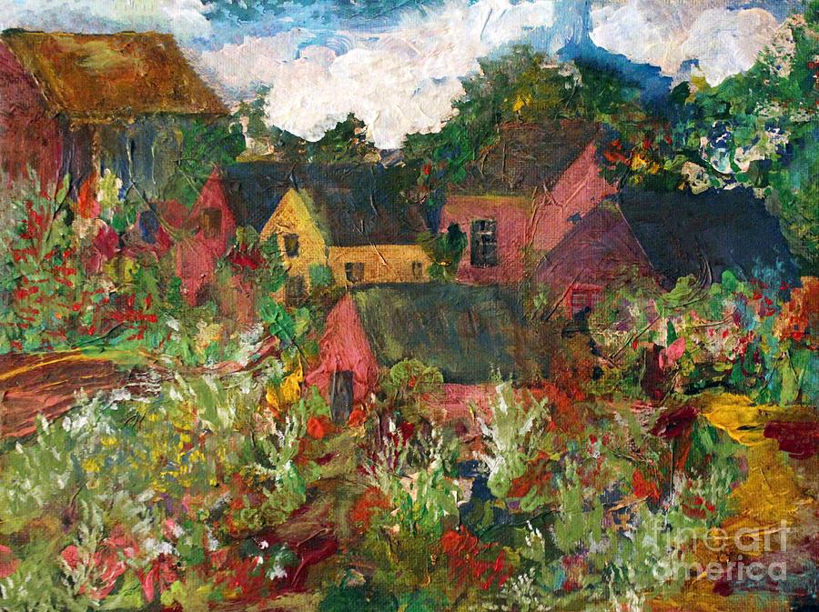 Deborah Montana Painting - Happy Village by Deborah Montana