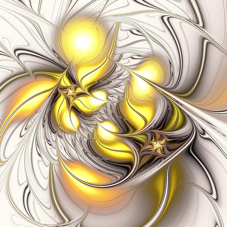Malakhova Digital Art - Happy Yellow by Anastasiya Malakhova