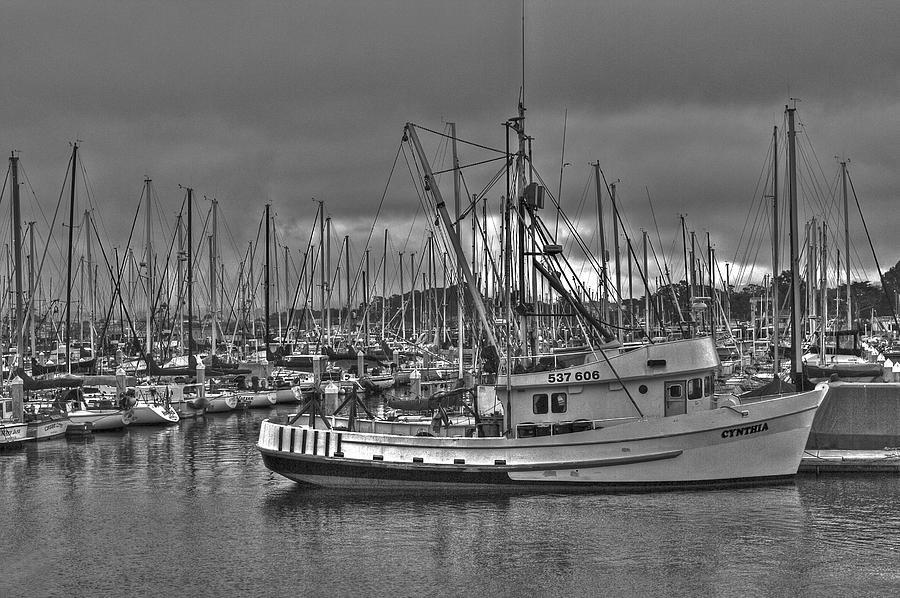 Beach Photograph - Harbor And Marina Monterey 2 by SC Heffner