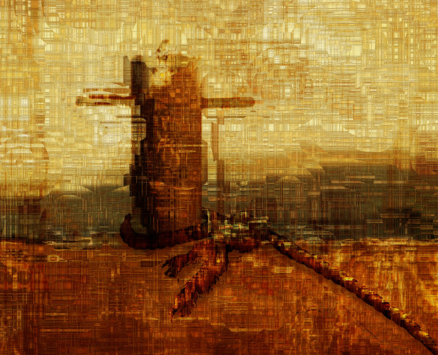 Abstract Painting - Harbor by Jack Zulli