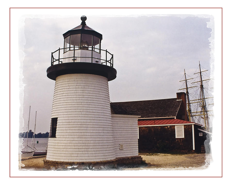 Lighthouse Photograph   Harbor Light At Mystic Seaport By Tim Goode