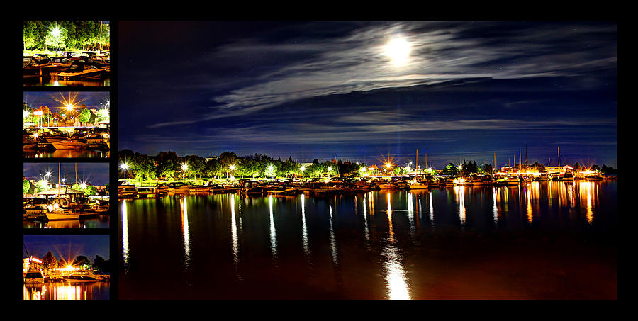 Harbor Nights Colage by Ric Potvin