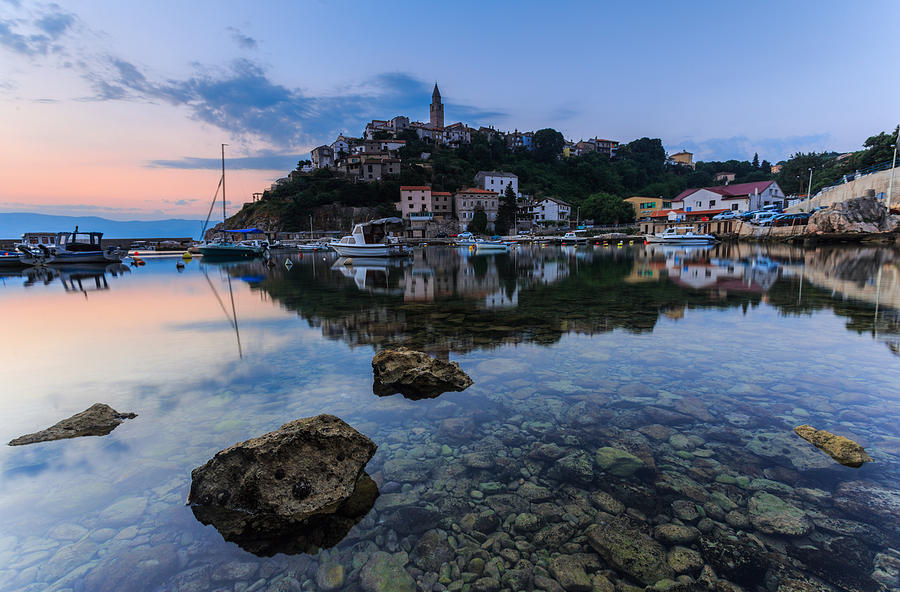 Seascape Photograph - Harbor Reflection by Davorin Mance