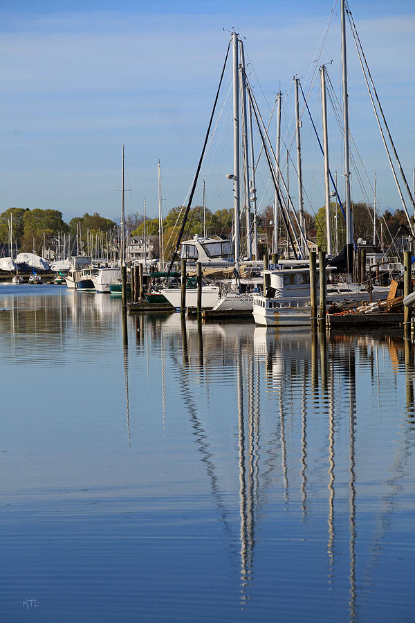 Coastal Photograph - Harbor Reflections by Karol Livote