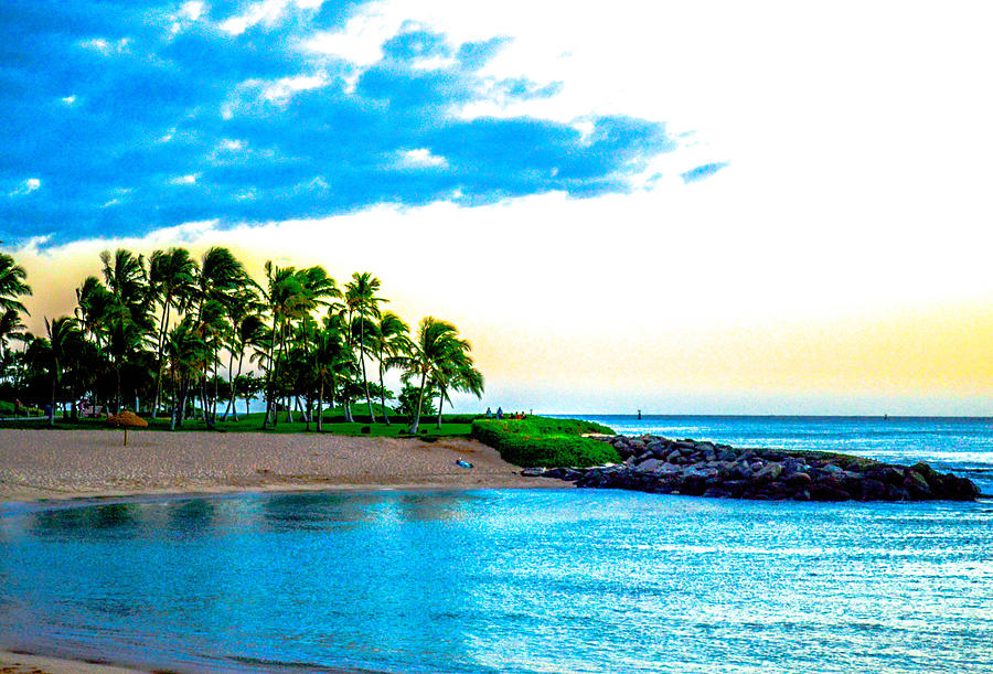 Trees Photograph - Harbor View Ko Olina  by Lisa Cortez