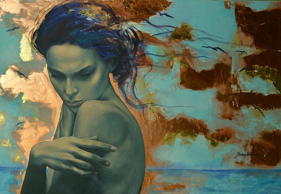 Fantasy Painting - Harboring Dreams by Dorina  Costras