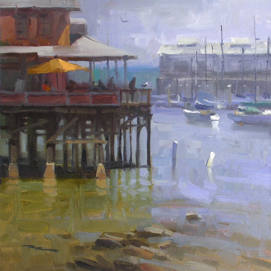 Harbour Painting - Harbour Light by Richard Robinson