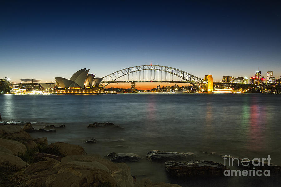 Sydney Photograph - Harbour Night by Andrew Paranavitana