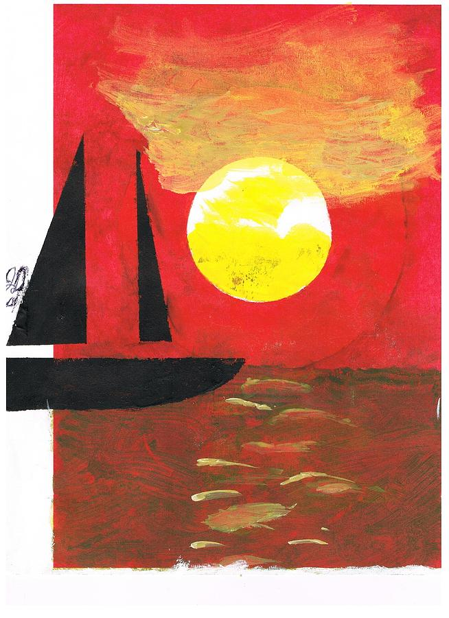 Sail Painting - Harbour Of Your Mind by John Deeter