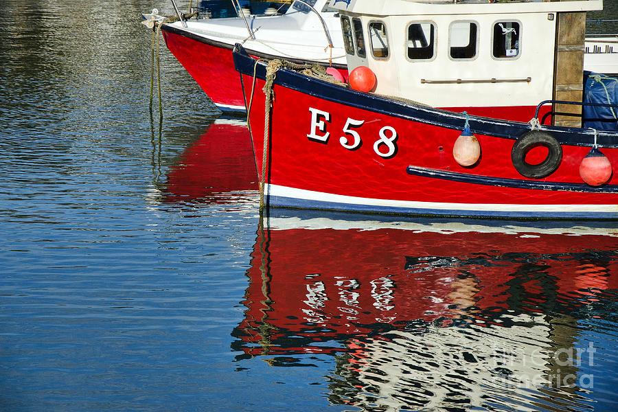 Lyme Regis Photograph - Harbour Reds by Susie Peek
