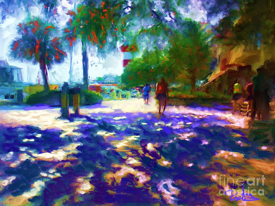 Harbour Town Marina Painting - Harbour Town Shadows by Preston Sandlin