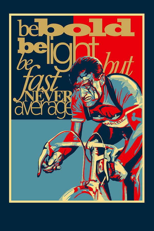 Motivational Sports Poster Painting - Hard As Nails Vintage Cycling Poster by Sassan Filsoof