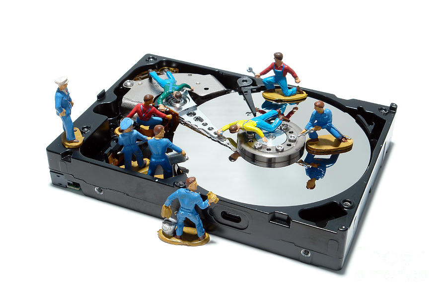 Computer Photograph - Hard Drive Maintenance by Olivier Le Queinec