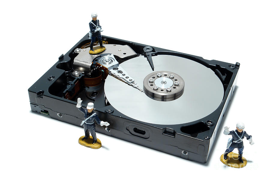 Computer Photograph - Hard Drive Security by Olivier Le Queinec