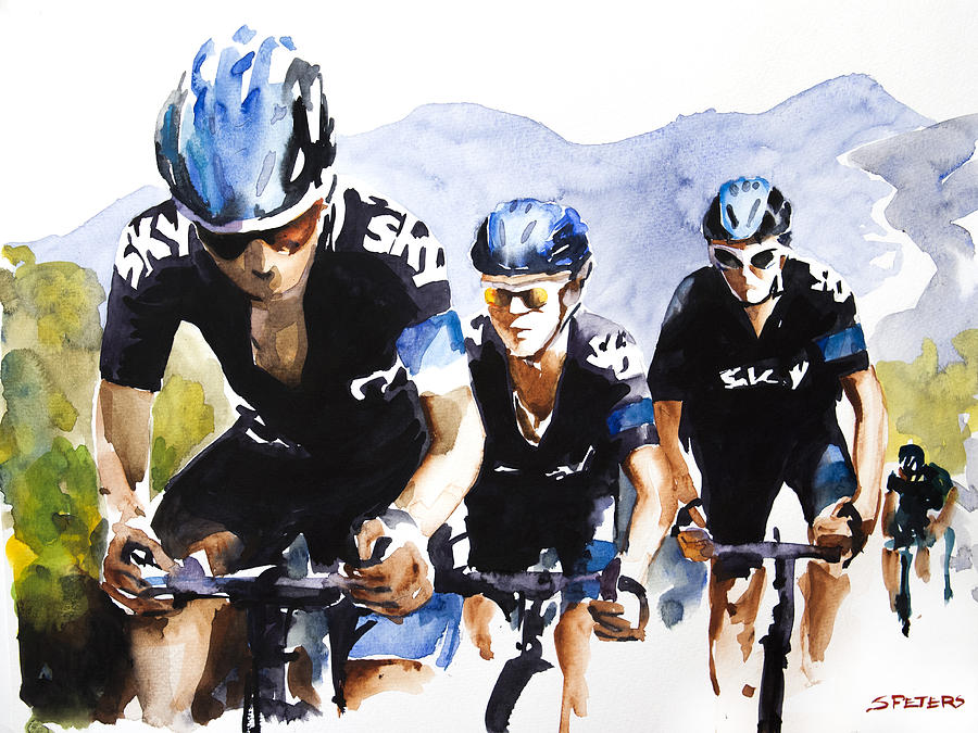 Le Tour De France Painting - Hard High Yards by Shirley  Peters
