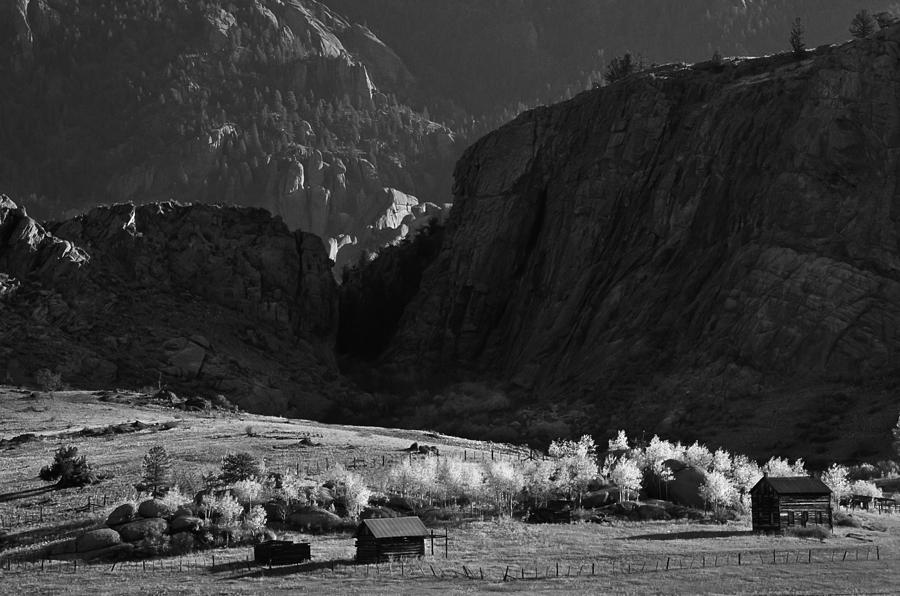 Colorado Photograph - Hard Times black and white by Mike  Bennett