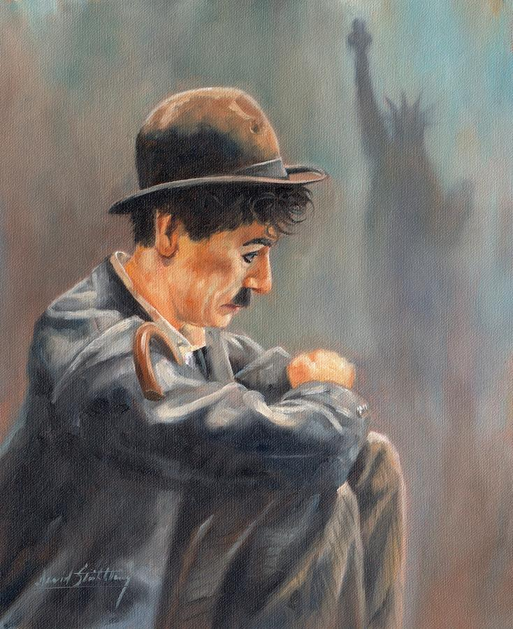 Charlie Painting - Hard Times by David Stribbling