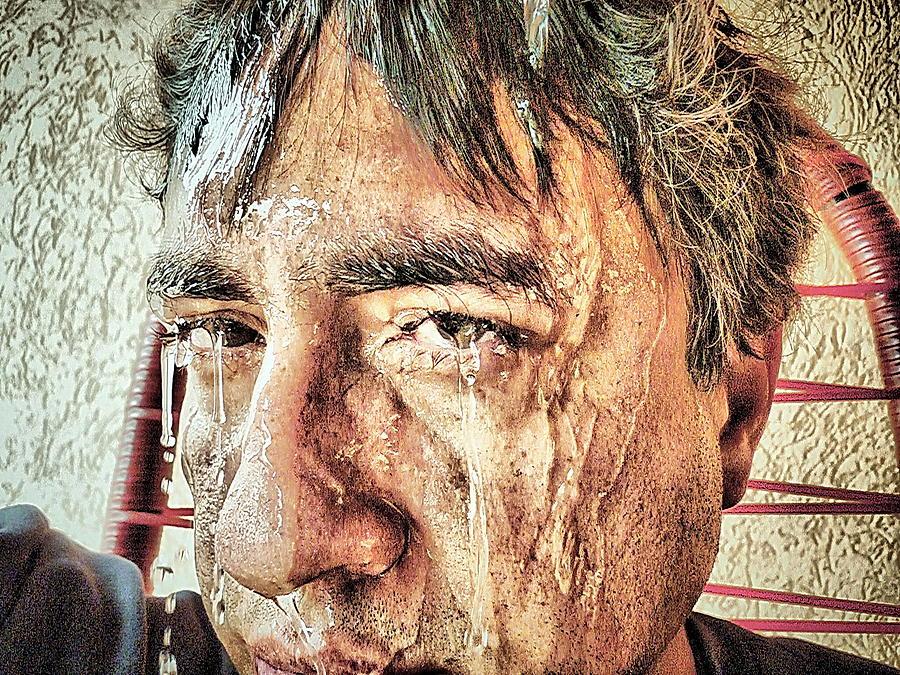 Face Photograph - Hard Work by Beto Machado
