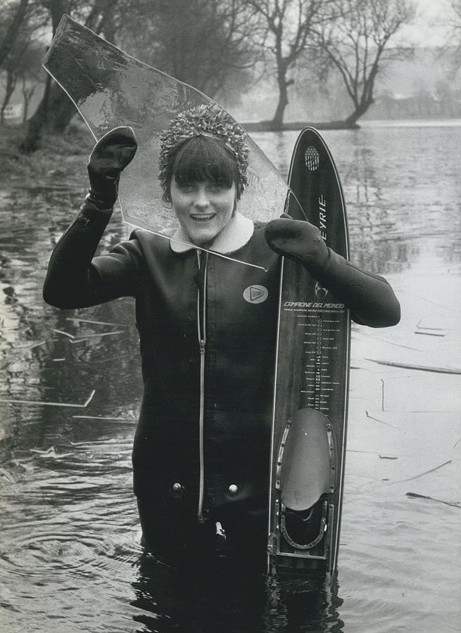 Retro Photograph - Hardy Jeannette Breaks The Ice At Rickmansworth Aquadrome by Retro Images Archive