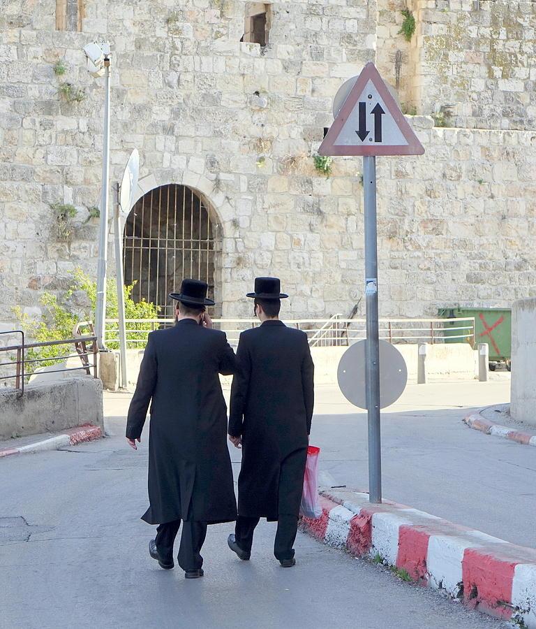 Haredim of Jerusalem by Rita Adams
