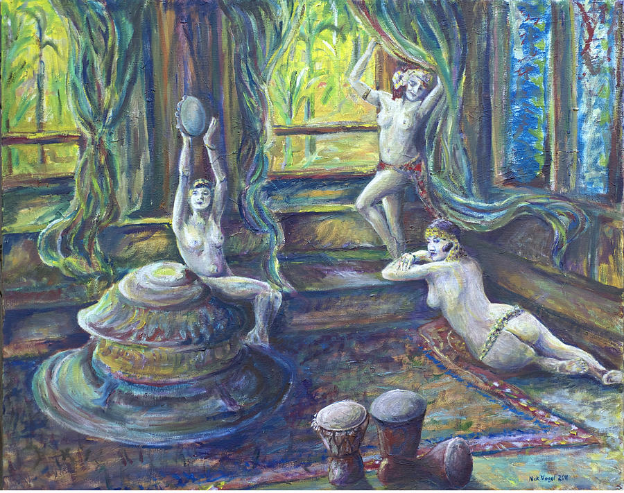 Nude Painting - Harem Room by Nick Vogel