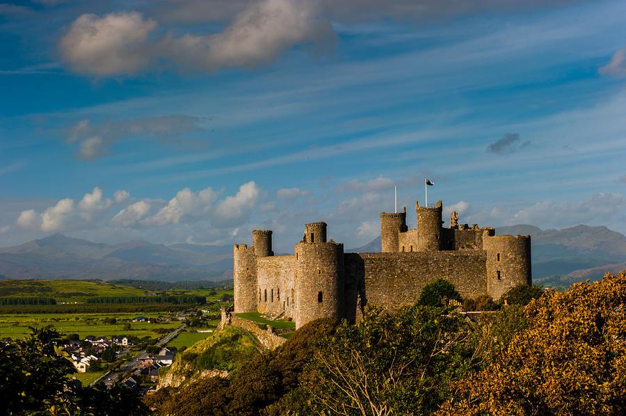 Castle Photograph - Harlech Castle by David Ross
