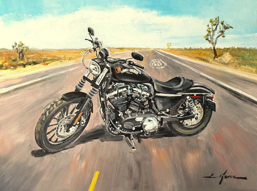 Motorcycle Oil Paintings