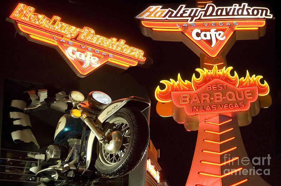 Harley Photograph - Harley Davidson Cafe by Bob Christopher