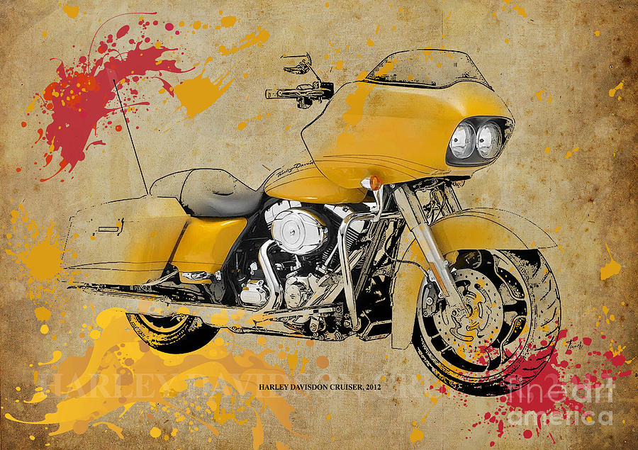 Harley Davidson Cruiser 2012 Digital Art by Pablo Franchi